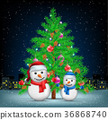 크리스마스, 성탄절, 눈사람 36868740
