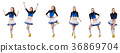 Cheerleader isolated on the white background 36869704
