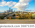 busy elevated road and cityscape of modern city 36873305