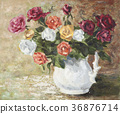 Oil, Painting, rose 36876714