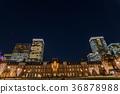 도쿄역 황혼 36878988