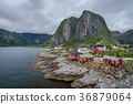Norway, cottages, hamnoy 36879064