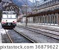 railway, train, building 36879622