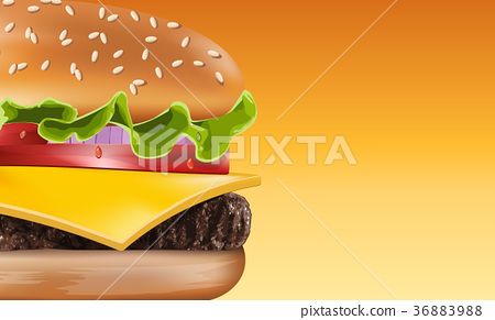 Vector perfect hamburger  36883988