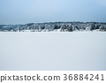 Snow landscape of Sakata, Yamagata in winter 36884241