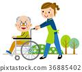 nursing, Wheel Chair, wheel-chair 36885402