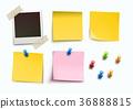 Design elements for bulletin board 36888815