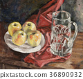 油画 水果 苹果 36890932