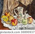 주전자와 과일 정물 36890937