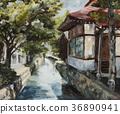 Oil Painting, landscape painting, scene 36890941