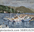 Oil Painting, bay, harbour 36891029