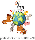 Farm Animal standing around the world 36893520