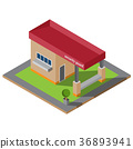 Isometric guardhouse vector illustration 36893941