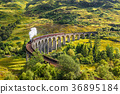 Glenfinnan Railway Viaduct in Scotland with a 36895184