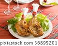 크리스마스 요리, 닭고기, 프라이팬 36895201