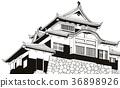 Binaka Matsuyama Castle [Hand-painted] 36898926