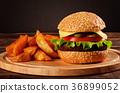 burger beef tomato 36899052