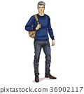 Vector man model dressed 36902117