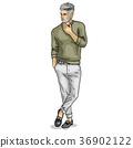 Vector man model dressed 36902122