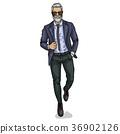 Vector man model dressed 36902126