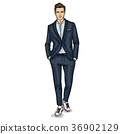 Vector man model dressed 36902129