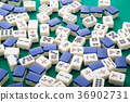 mahjong tiles for background 36902731
