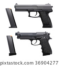 realistic guns set 36904277
