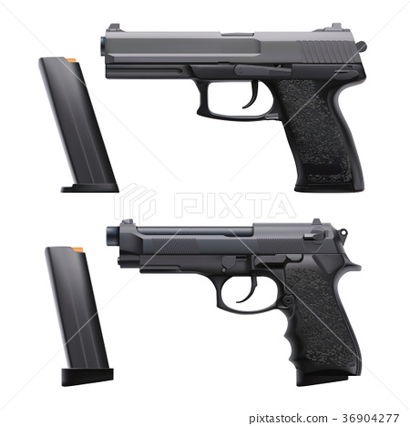realistic guns set 36904277