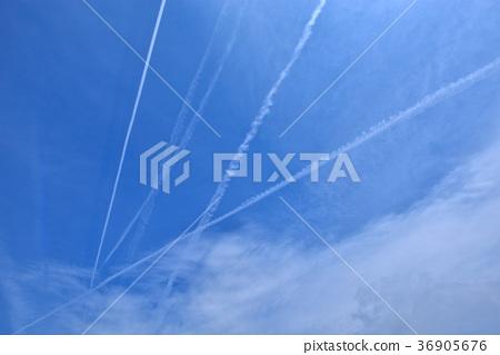 天空,雲,線條,藍天,雲,氣候,氣象,天文,清新,新鮮,自然 36905676