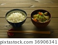 Miso soup with pork and vegetables 36906341
