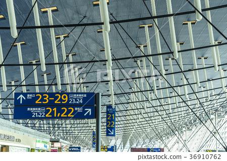 上海浦東國際機場內部天花板風景 36910762