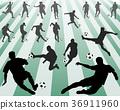 足球 选手 侧影 36911960