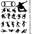 silhouettes of skate jumpers 36911966