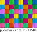 Colorful pattern from on background cutting 36913580