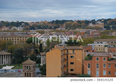 Roman city taken from the hills of Palatine 36914320