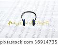 耳机 音乐 音符 36914735