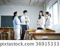 学生打扫教室 36915333