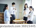 学生打扫教室 36915445