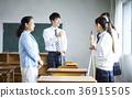 学生打扫教室 36915505