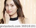 美丽的女人美容肖像 36916101