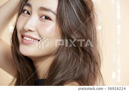 美丽的女人美容肖像 36916224