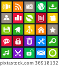 Desktop Flat Icons Set 36918132