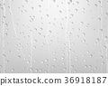 Rain Water Drops On Glass with Gray Background 36918187