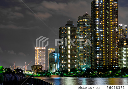 [東京]夜晚的城市風光 36918371