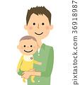 爸爸 矢量 嬰兒 36918987