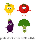 set with cartoon vegetables 36919466