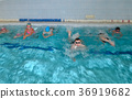 swimming children in bokeh effect 36919682