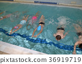 swimming children in swimming lessons 36919719
