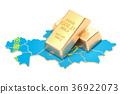 gold, Kazakhstan, map 36922073