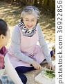 노인, 미소, 여자 36922856